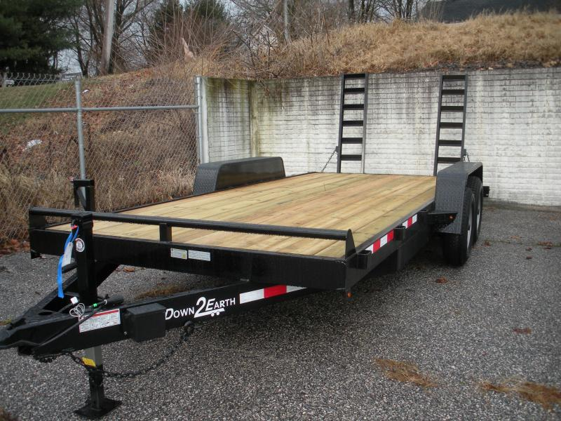 "2019 Down 2 Earth Trailers 82"" X 18' 10K Equipment Trailer"