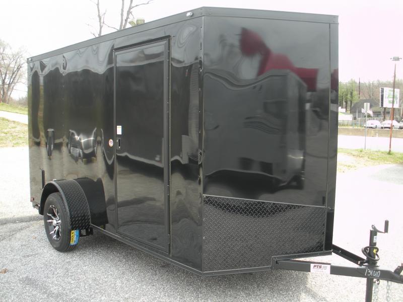 "2019 Spartan 6' X 12' ""Black Trim Pkg."" & Motorcycle Pkg. Enclosed Cargo Trailer"
