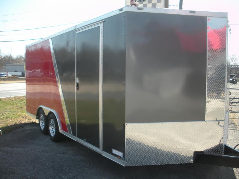 2019 Anvil 8.5' X 18' 7K 2 Tone Charcoal and Red Car / Racing Trailer
