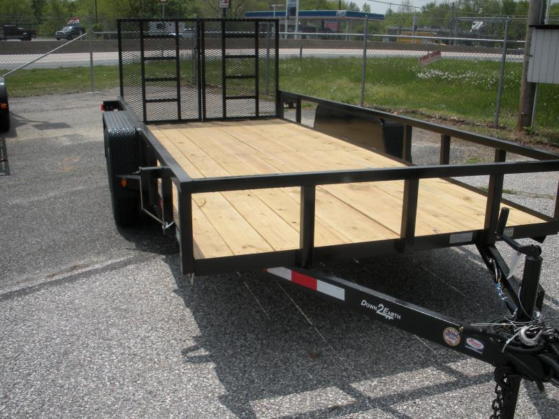 "2019 Down 2 Earth Trailers 76"" X 16' 7K Tandem Axle Utility Trailer"