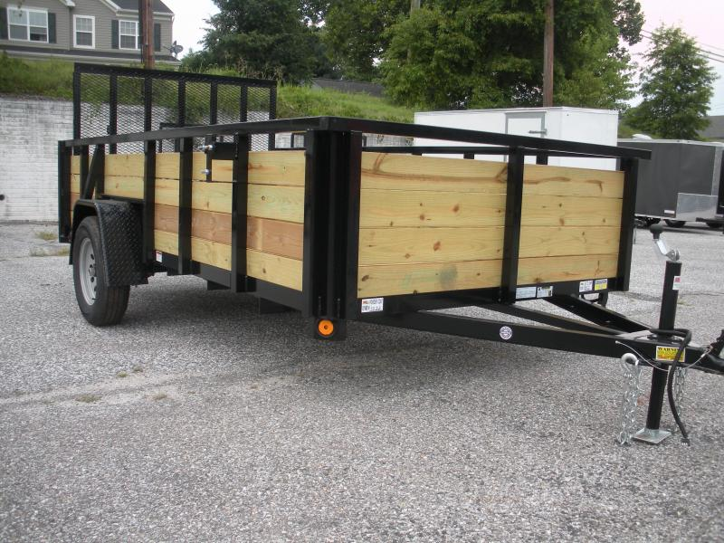 "2019 Quality Steel and Aluminum 74"" X 12' Wood High Side Utility Trailer in Ashburn, VA"