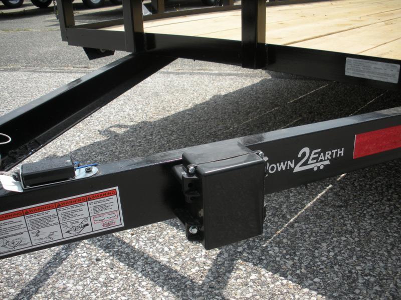 "2019 Down 2 Earth Trailers 76"" X 16' 7K Tandem Axle Utility Trailer"