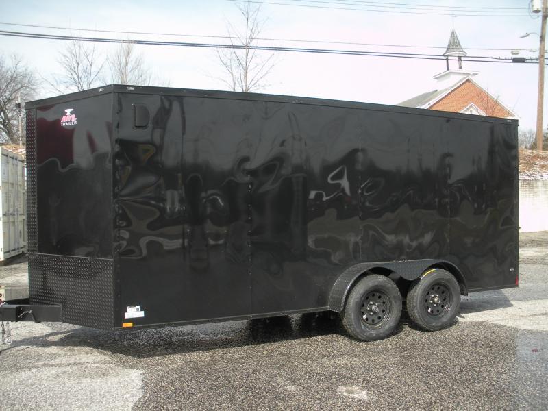 "2019 Anvil 7' X 16' ""Black Trim"" Enclosed Cargo Trailer in Ashburn, VA"