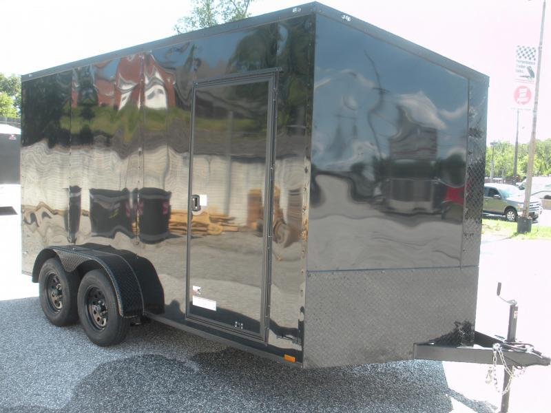 "2019 Anvil 7' X 14' X 7' Slanted V Nose ""Black Trim"" Enclosed Cargo Trailer"