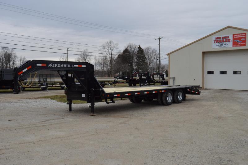 2018 Iron Bull 102x25 Low Pro Deck Over Gooseneck Equipment Trailer in Ashburn, VA