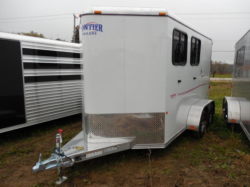 2016 Frontier Strider 2 Horse Combo Trailer