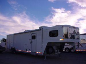 Clearance 2005 Elite Trailers 30ft Carhauler with Outlaw LQ Car / Racing Trailer in White Stone, SC