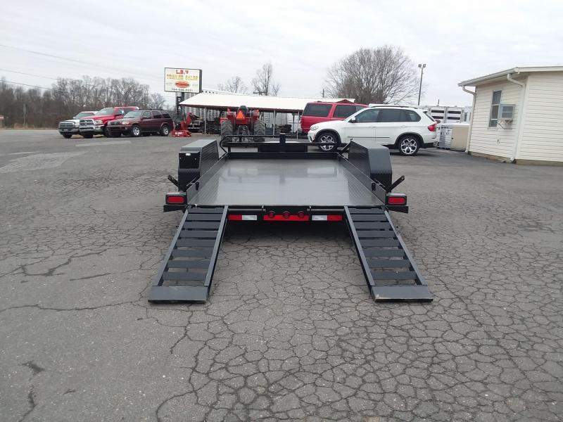 Bobcat Trailer Fenders : Load trail bp bobcat equipment trailer over