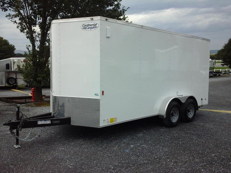 2019 Continental Cargo 7x16 TA Enclosed Cargo Trailer