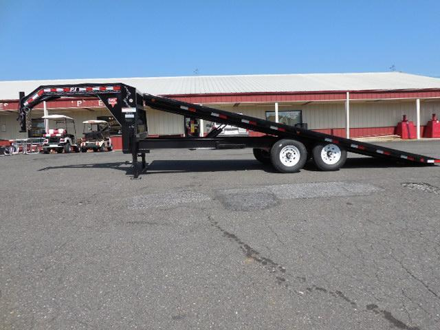 2015 PJ Trailers GN 22ft Deckover Tilt Equipment Trailers