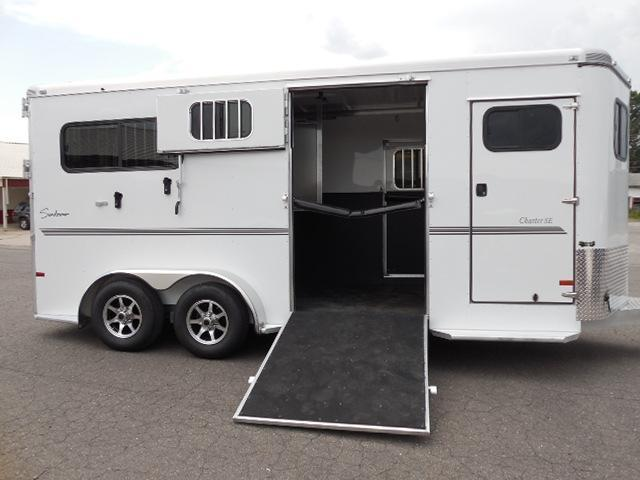 Clearance 2015 Sundowner Trailers 2H Rear & Side Ramps Horse Trailer