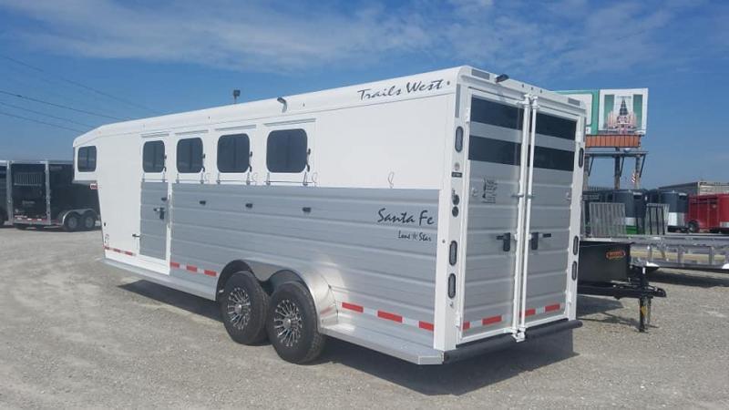 2020 Trails West Manufacturing 4 Horse Goose Neck Slant Load Horse Trailer