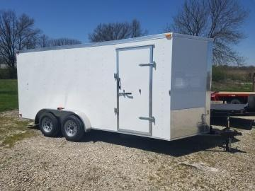 New 2018 Maxwell 7 x 16 w/Double Rear Barn Doors