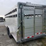 New 2018 Barret 7 x 24 All Aluminum Livestock Trailer