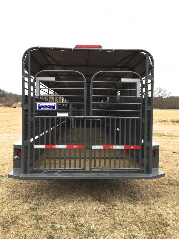 Gooseneck 32 Livestock Trailer Flatbed Equipment And