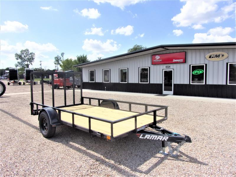 2019 Lamar Trailers 77x12 Single Axle Utility GVWR 2995 Utility Trailer