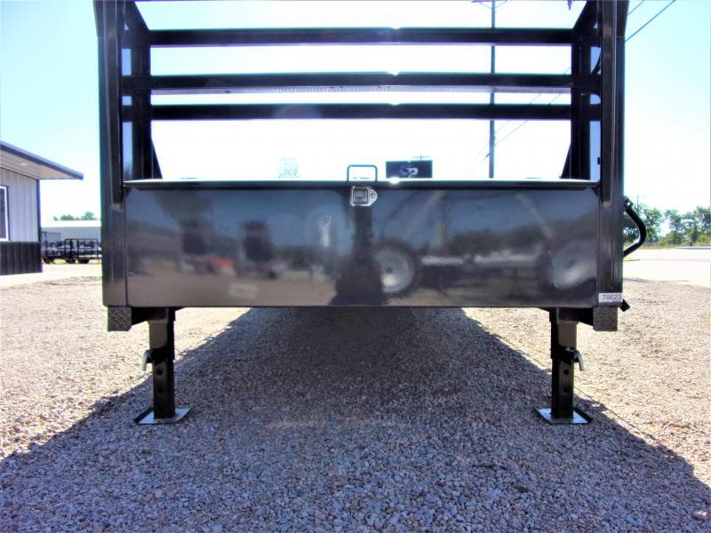 "2019 LAMAR 102"" X 26' HD GOOSENECK LOWBOY / CAR HAULER GVWR 14K"