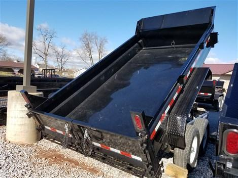 6 x 12 Sure-Trac SD Low-Profile Dump Trailer 10k