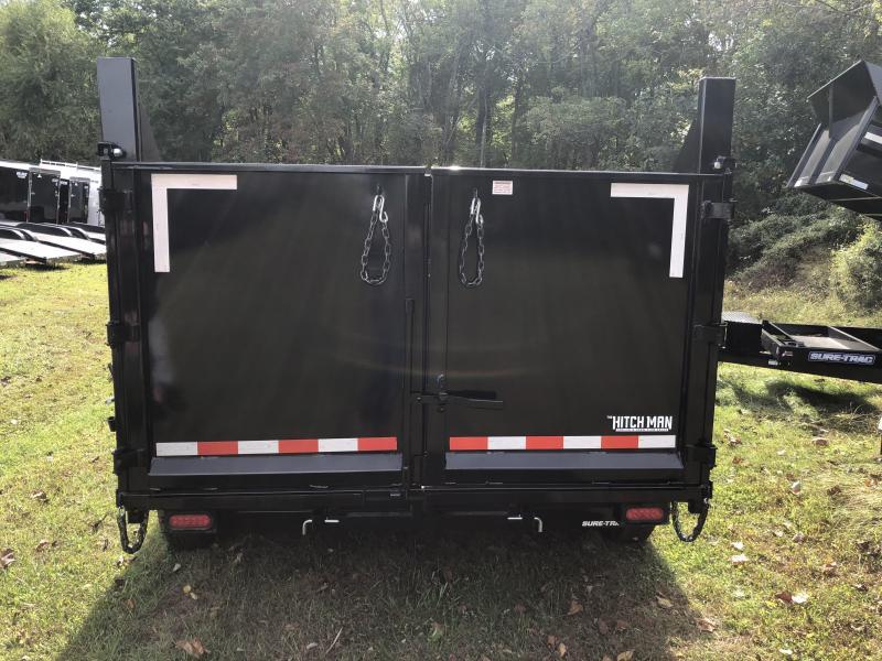 7 x 12 Sure-Trac 4' High Side 12k Dual-Ram Dump Trailer