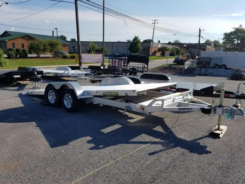 Aluma 7 x 18 Tilt Bed Aluminum Car Trailer 7k in Ashburn, VA