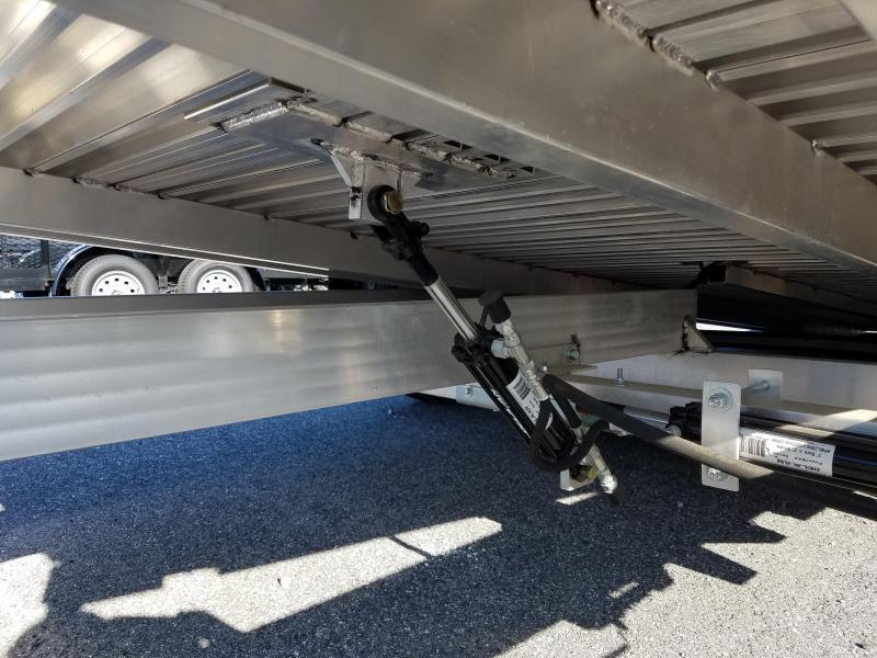 Aluma 7 x 18 Tilt Bed Aluminum Car Trailer 7k