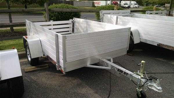 "Aluma 638 (5'3"" x 8) 2k High Side Aluminum Utility Trailer"