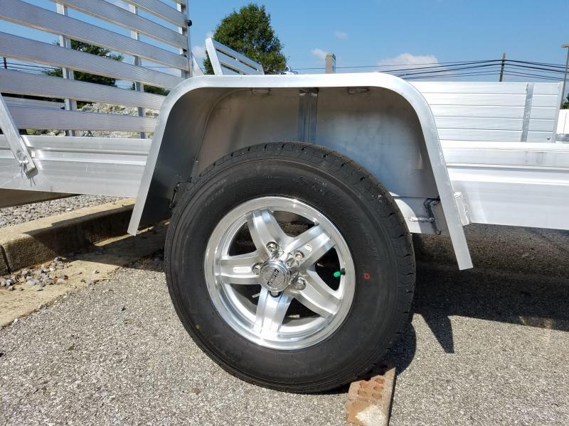 "Aluma 5'8"" x 10' Aluminum Wood Deck Utility Trailer 3k"