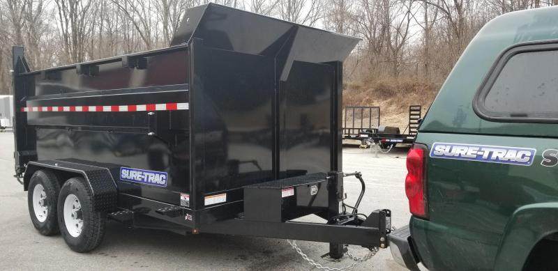 82in x 12 Sure-Trac LProfile **4' High Sides Dual Ram Dump 14k