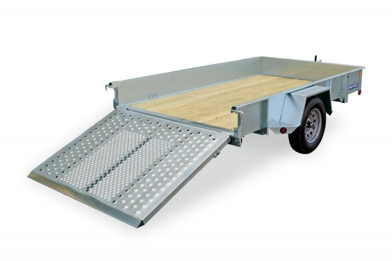 6 X 12 Sure-Trac Galvanized High Side Utility 3k