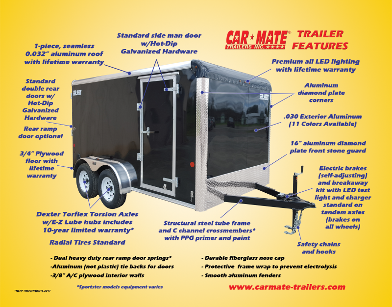 8.5 X 24 Car Mate Custom Car Trailer 10k