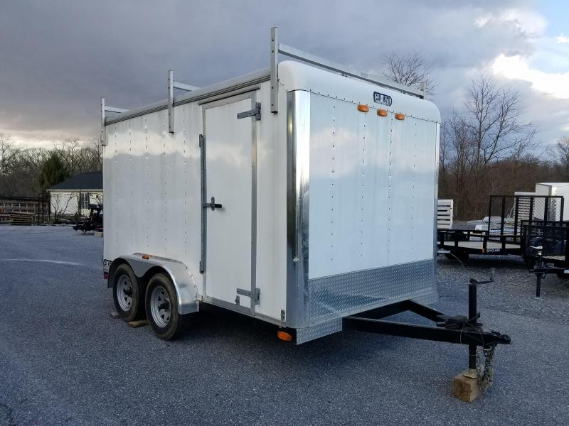 7 x 14 Used Car Mate Contractor Cargo Trailer 7K
