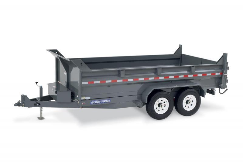 7 x 12 Sure-Trac STD Dual-Ram HD Dump Trailer 12k