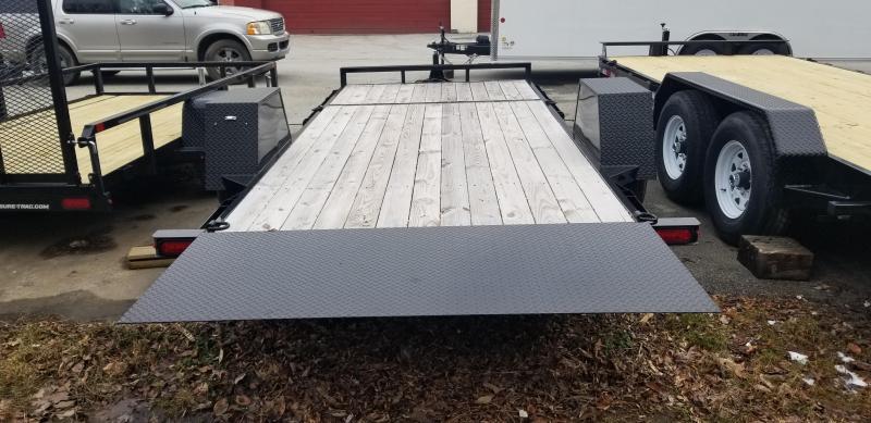 "78"" x 12 + 4 Sure-Trac Single Axle Tilt Bed Equipment Trailer 7.8k"