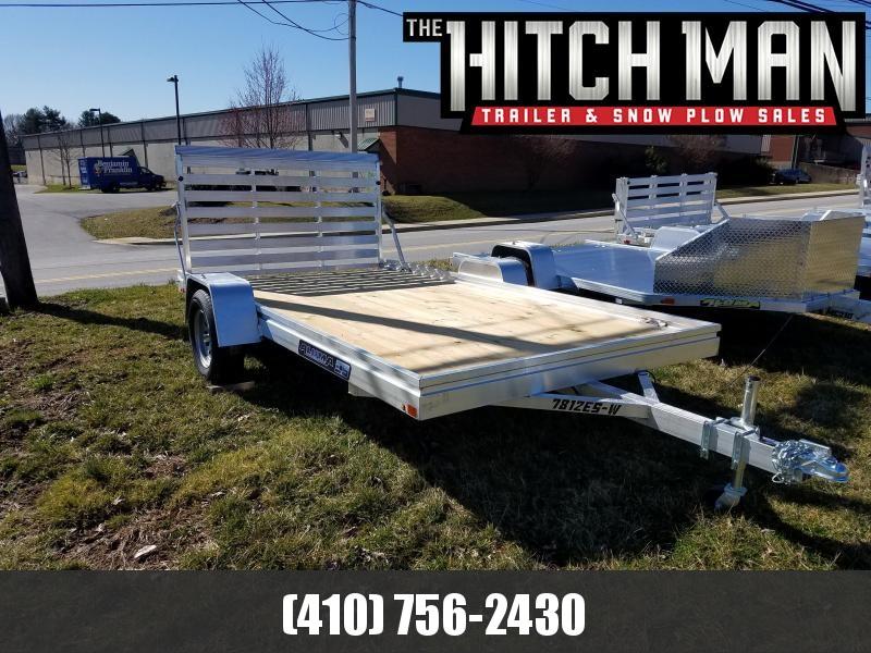 6.5' x 12' ALUMA Aluminum Wood Deck Utility Trailer 3k