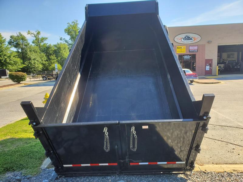 Used 7 x 14 Sure-Trac High Side Dump Trailer 14k Scissor Hoist