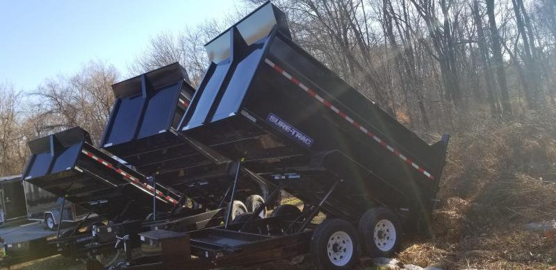 2019 Sure-Trac 82 IN X 12 LProfile 12K **4' High sides Dual Ram Dump
