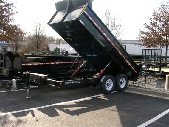 7 x 14 Sure-Trac 14k Scissor-Hoist Dump Trailer