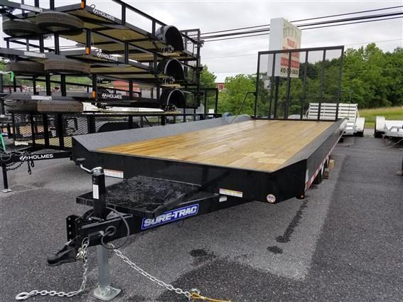 8.5 x 20 Sure-Trac Custom-Built Deck Over Equipment Trailer 10k