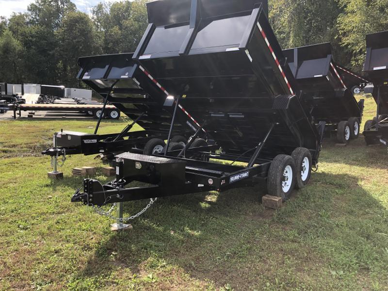 7 x 12 Sure-Trac 12k Dual-Ram Dump Trailer