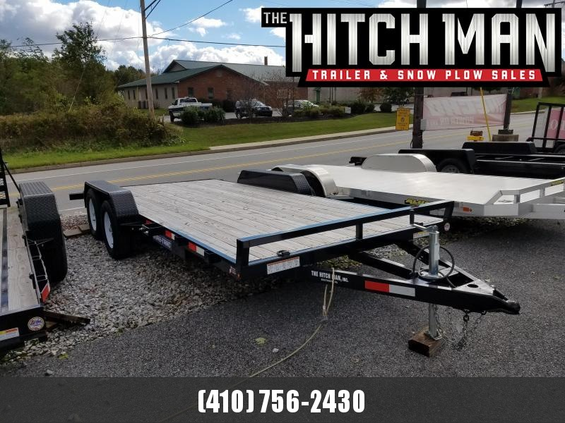 7 x 18 Sure-Trac 7k Wood Deck Car Hauler