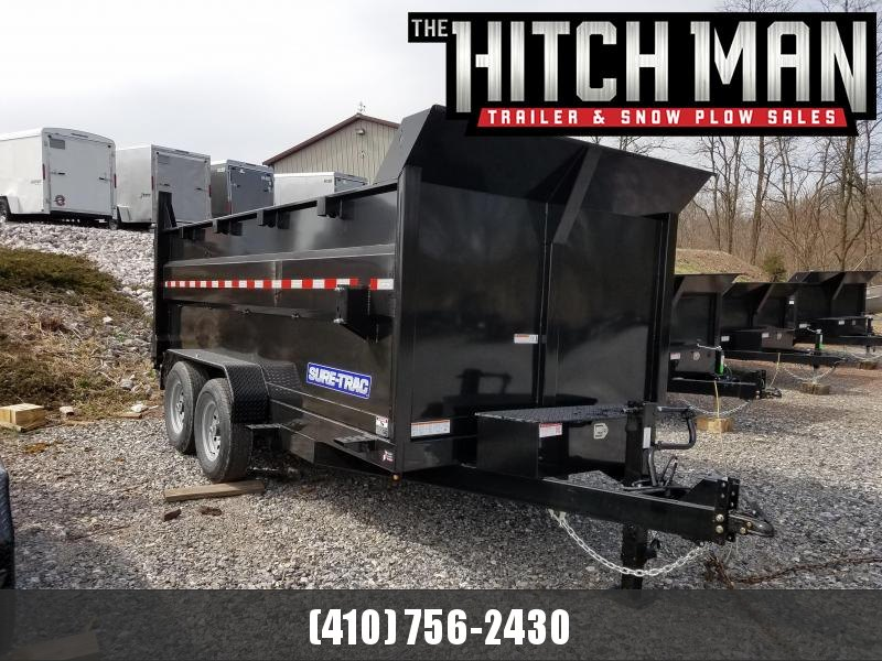 7 x 14 Sure-Trac High Side Dump Trailer 14k Scissor Hoist