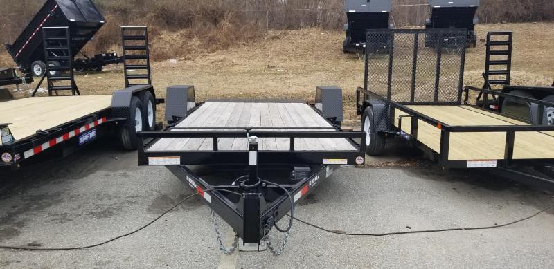 Sure-Trac 7 x 18 +4' Stationary Deck Equipment Trailer 14k