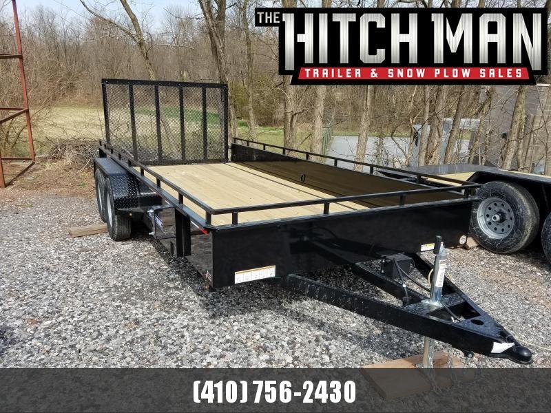 7 x 16 Sure-Trac Steel High Side Utility 7K