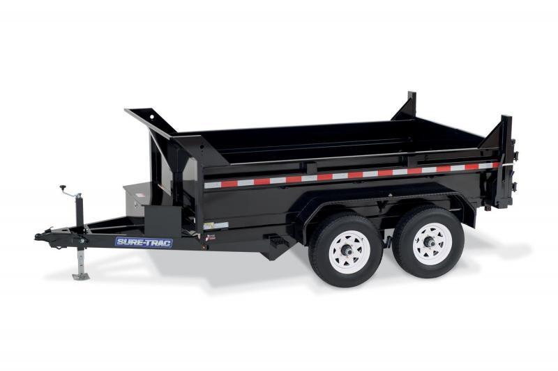6 x 10 Sure-Trac SD Low-Profile Dump Trailer 10k