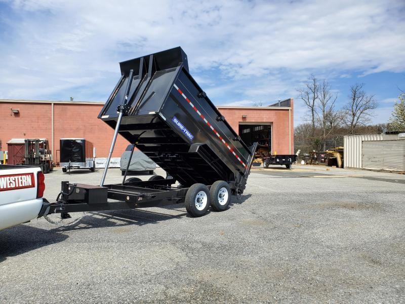 7 x 12 Sure-Trac 4' High Side Dump Trailer 14K Telescopic Ram