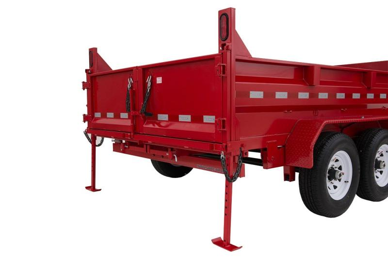7 x 14 Sure-Trac Dual-Ram HD Dump Trailer 14k