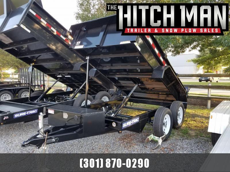 5 x 10 Sure Trac Low Profile Homeowner Dump Trailer 7k