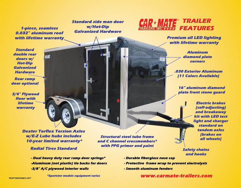 8 X 20 Car Mate Custom Car Trailer 7k
