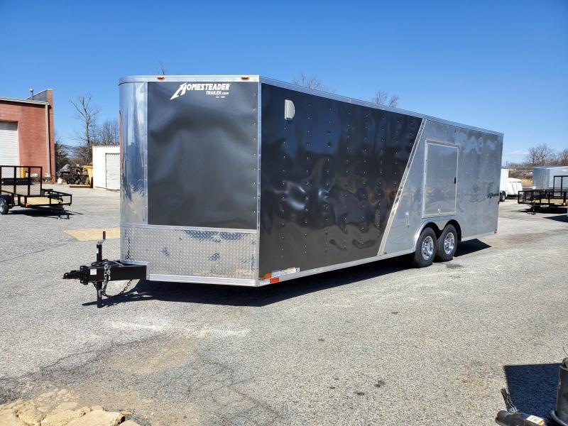 8.5 x 24 V Homesteader Champion 10k Enclosed Car Hauler