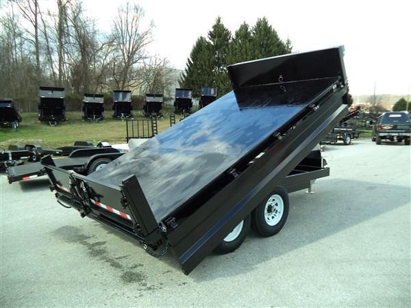 8 x 14 Sure-Trac 14k Scissor-Hoist Deckover Dump Trailer